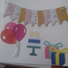 Tactile handmade birthday card made for the visually impaired
